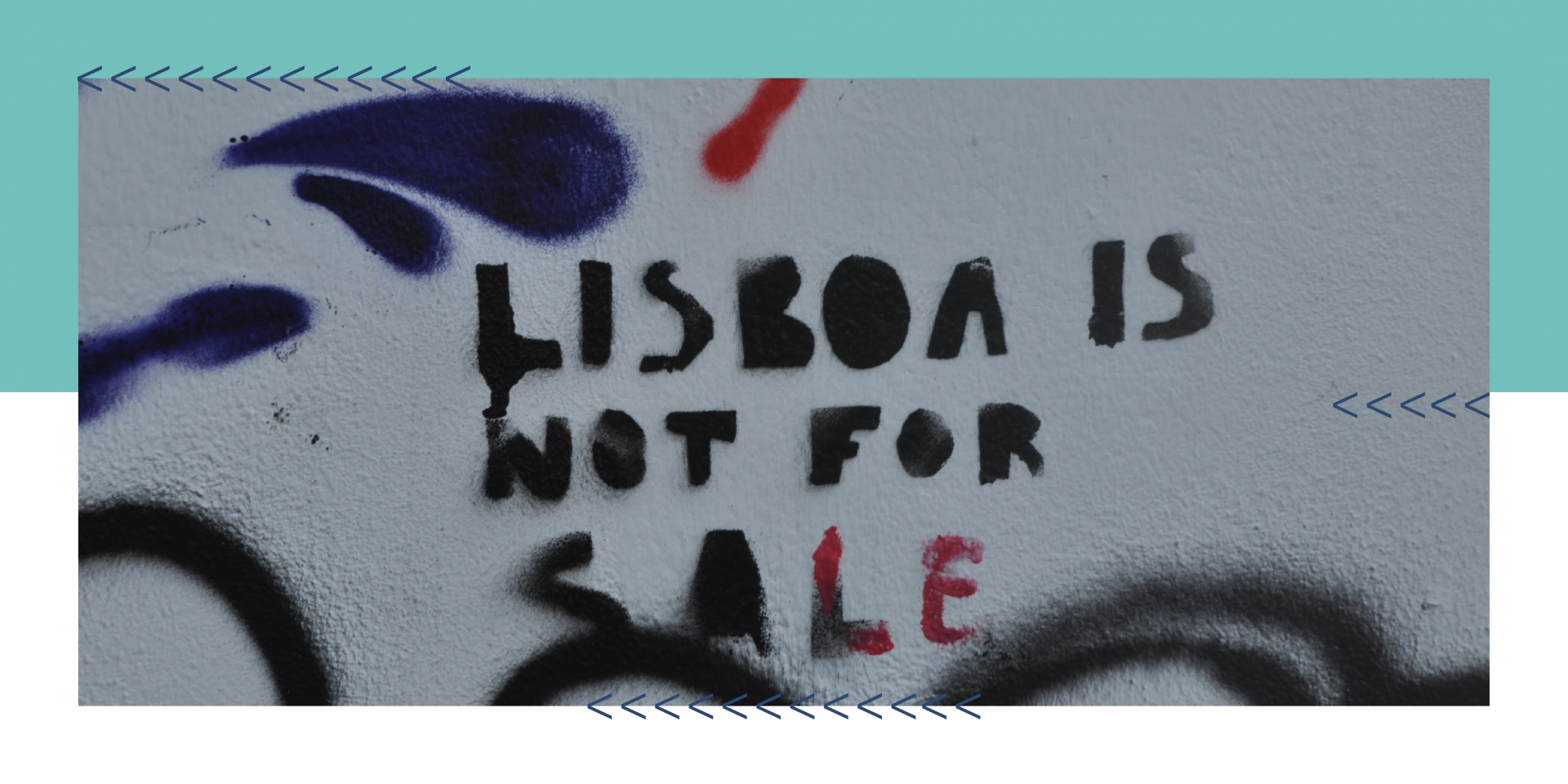 Grafiti Lisboa is not for sale, numa parede de Lisboa