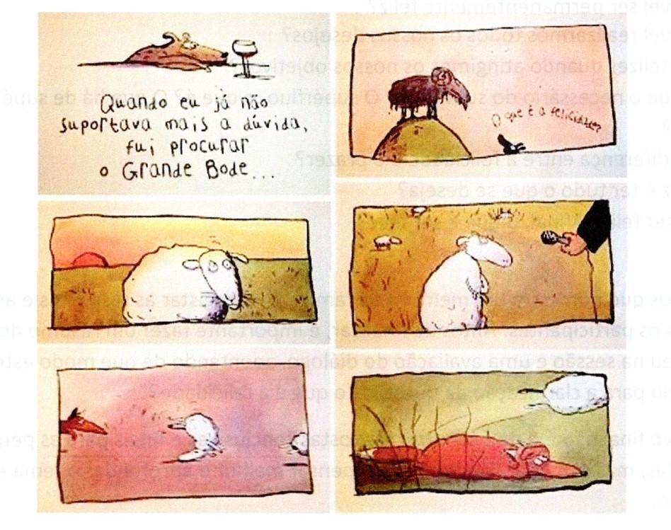 Ilustração da obra  A ovelha mais feliz do mundo
